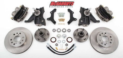 "GMC C-10 1963-1970 13"" Front Disc Brake Kit & 2.5"" Drop Spindles; 6x5.5 Bolt Pattern - McGaughys Part# 63310"