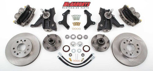 "Chevrolet C-10 1971-1972 13"" Front Disc Brake Kit & 2.5"" Drop Spindles; 6x5.5 Bolt Pattern - McGaughys Part# 63312"