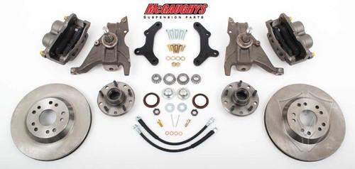 "Chevrolet Camaro 1970-1978 13"" Front Disc Brake Kit & 2"" Drop Spindles; 5x4.75 Bolt Pattern - McGaughys Part# 64077"