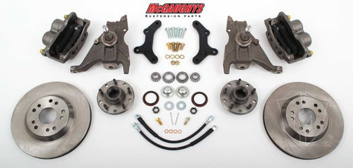 "Pontiac Firebird 1979-1981 13"" Front Disc Brake Kit & 2"" Drop Spindles; 5x4.75 Bolt Pattern - McGaughys Part# 64079"