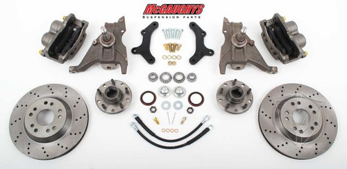 "Chevrolet Camaro 1979-1981 13"" Front Cross Drilled Disc Brake Kit & 2"" Drop Spindles; 5x4.75 Bolt Pattern - McGaughys Part# 64080"