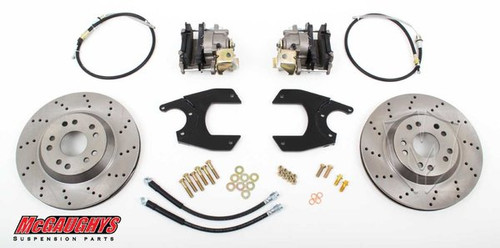 "GM Fullsize Car 10 or 12 Bolt Rear End - 13"" Rear Cross Drilled Disc Brake Kit; 5x5 Bolt Pattern - McGaughys Part# 64101"