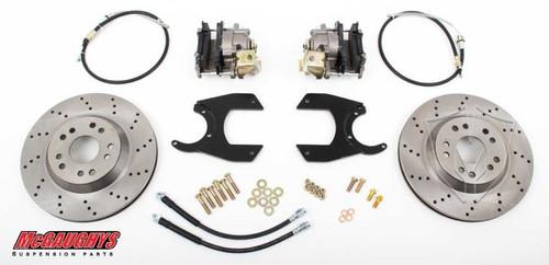 """GM Truck 12 Bolt Rear End - 13"""" Rear Cross Drilled Disc Brake Kit; 5x4.75 Bolt Pattern - McGaughys Part# 64201"""