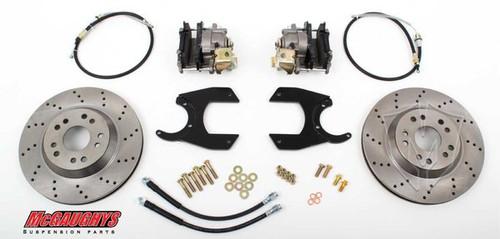 """GM Truck 12 Bolt Rear End - 13"""" Rear Cross Drilled Disc Brake Kit; 5x5 Bolt Pattern - McGaughys Part# 64203"""