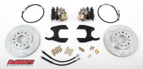 """GM Truck 12 Bolt Rear End - 13"""" Rear Cross Drilled Disc Brake Kit; 6x5.5 Bolt Pattern - McGaughys Part# 64301"""