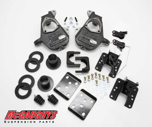 Chevrolet Silverado 1500 2014-2018 3/5 - 4/6 Deluxe Drop Kit - McGaughys Part# 34160 / 34260