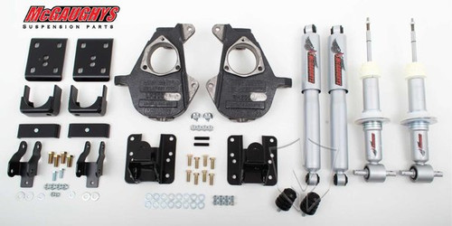 Chevrolet Silverado 1500 2014-2018 3/5 - 4/6 Deluxe Drop Kit W/Shocks - McGaughys Part# 34170/34270