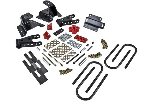 """Ford F-350 1987-1994 Ext Cab Dually  Belltech 4"""" Rear Shackle and Hanger Kit"""