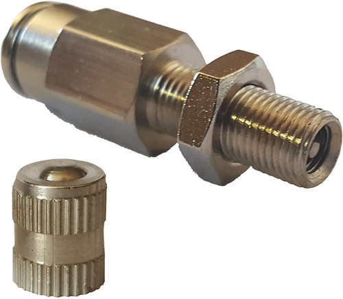 "1/4"" PTC Schrader Valve; Nickle Plated"