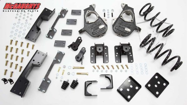 GMC Sierra 1500 Extended Cab 2007-2013 3/5 Deluxe Drop Kit - McGaughys Part# 34007