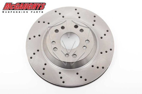 """13"""" Cross Drilled Disc Brake Rotor; 5x4.75 & 5x5 Bolt Pattern - Driver Side - McGaughys Part# 63146"""