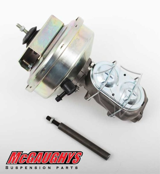 "GMC C-10 1960-1966 9"" Brake Booster With Master Cylinder & Bracket; Front Drum Brakes - McGaughys Part# 63182"