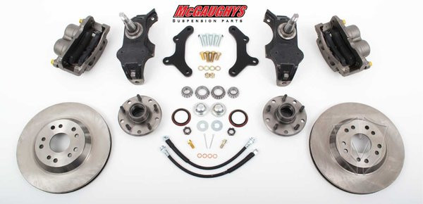 "Chevrolet Fullsize Car 1958-1964 13"" Front Disc Brake Kit & 2"" Drop Spindles; 5x4.75 Bolt Pattern - McGaughys Part# 63259"