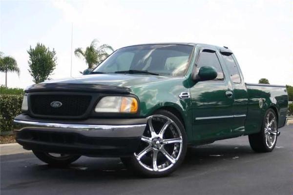 "1999 Ford F-150 - 2/4 Economy Drop Kit, 24"" Rims, 295/35R24 Tires"