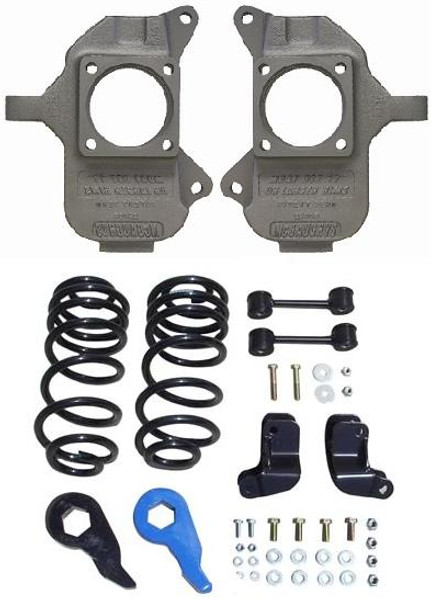 Hummer H2 Rear Coil Suspension 2003-2009 3/5 Deluxe Drop Kit - McGaughys Part# 93096