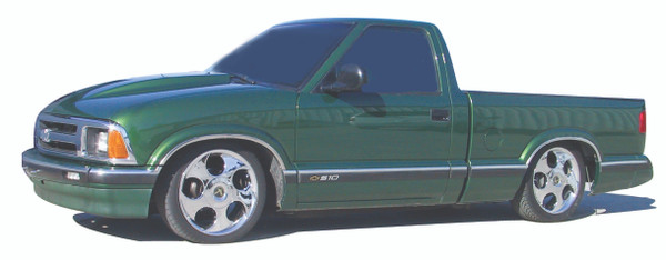 GMC S-15 Sonoma Standard Cab 1982-2003 4/6 Deluxe Drop Kit W/Leaf Springs