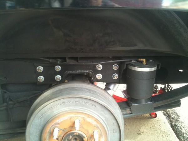 Rear Air Bag Helper Kit Installed