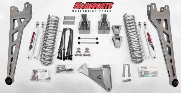 """Ford F350 4wd 2008-2010 8"""" Lift Kit W/Shocks Phase II - McGaughys Part# 57347"""