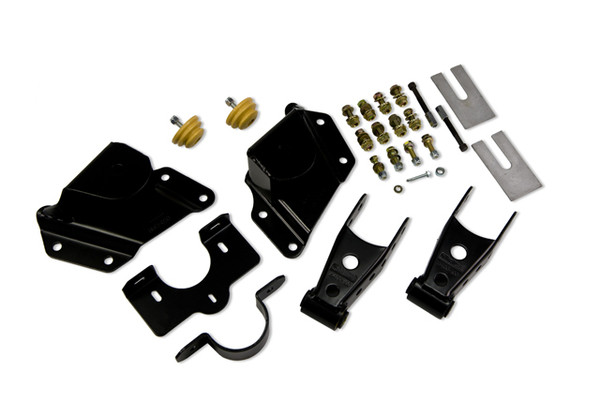 """Chevrolet Silverado 1500 2wd Shortbed Ext Cab 1999-2006 Belltech 4"""" Rear Shackle and Hanger Kit"""