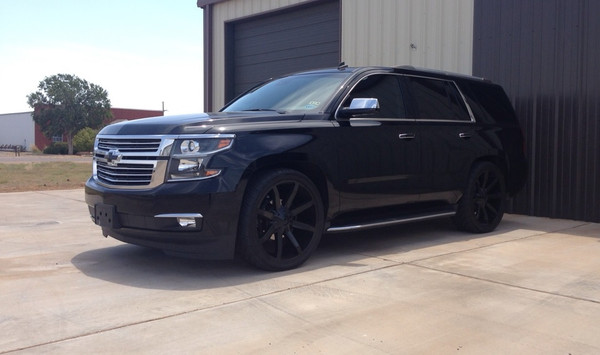 "2015 Chevy Tahoe - 2/3 Economy Lowering Kit, 24"" KMC Slide Wheels, 295/35R24 Tires"