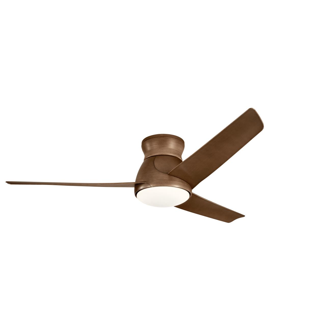 Eris 60 23w Led Walnut 3 Blade Indoor Outdoor Ceiling Fan By Kichler 310160wn