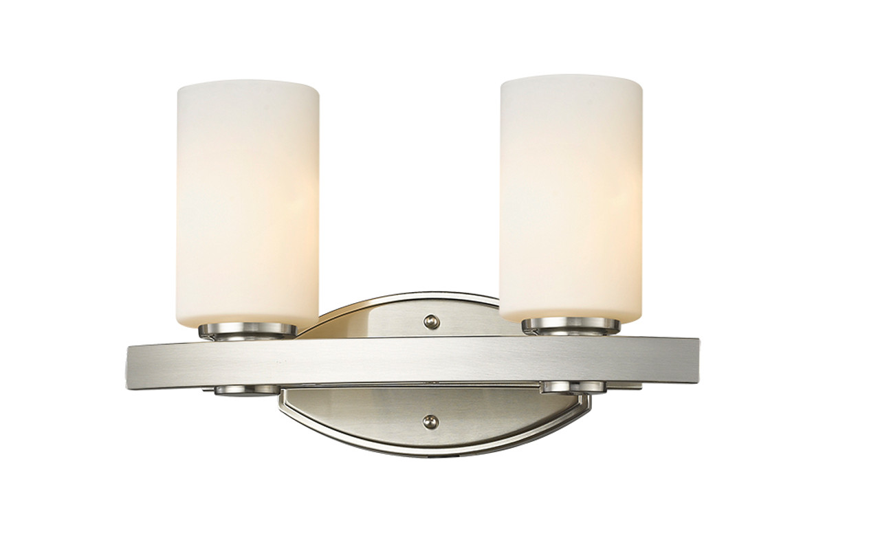 Aspen 2 Light Bathroom Vanity Light By Mirage Lighting