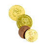 Solid Milk Chocolate Foil Wrapped Gold Coins