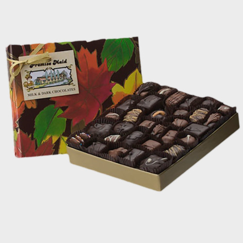 Milk & Dark Chocolate 3/4 lb. Autumn Assortment Gift Box
