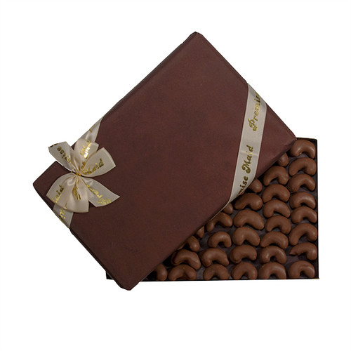Chocolate Covered Individual Cashews Gift Box