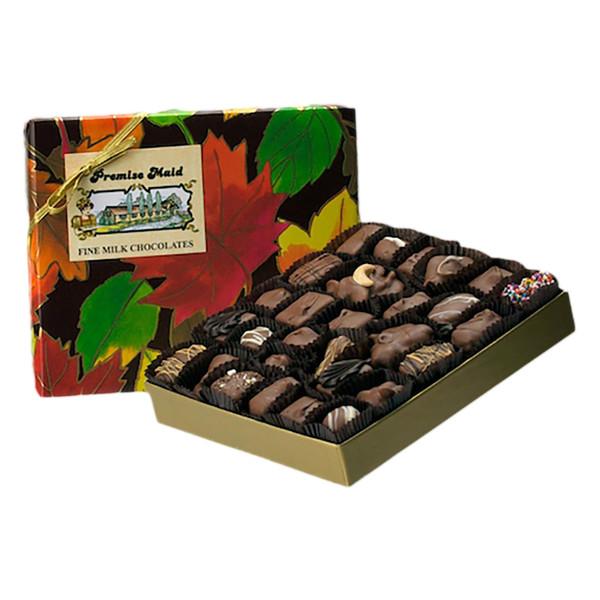 Milk Chocolate 3/4 lb. Autumn Assortment Gift Box
