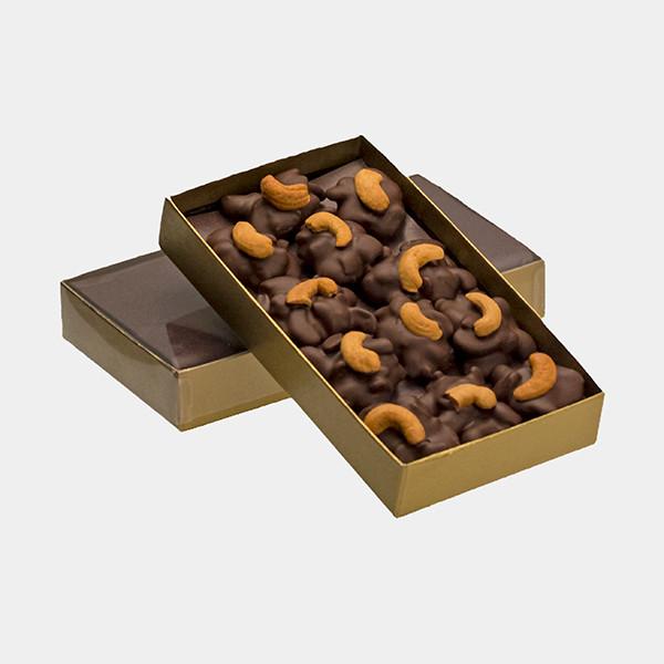 Dark Chocolate Cashew Turtles