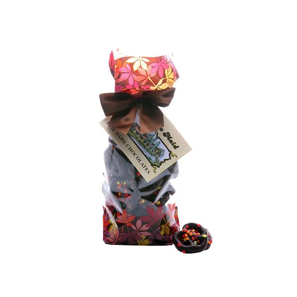 Dark Chocolate  Autumn Tiny Pretzel Twists Gift Bag