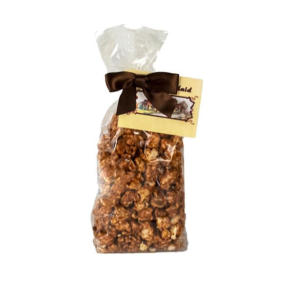 """Buckeye"" Peanut Butter & Chocolate Popcorn"