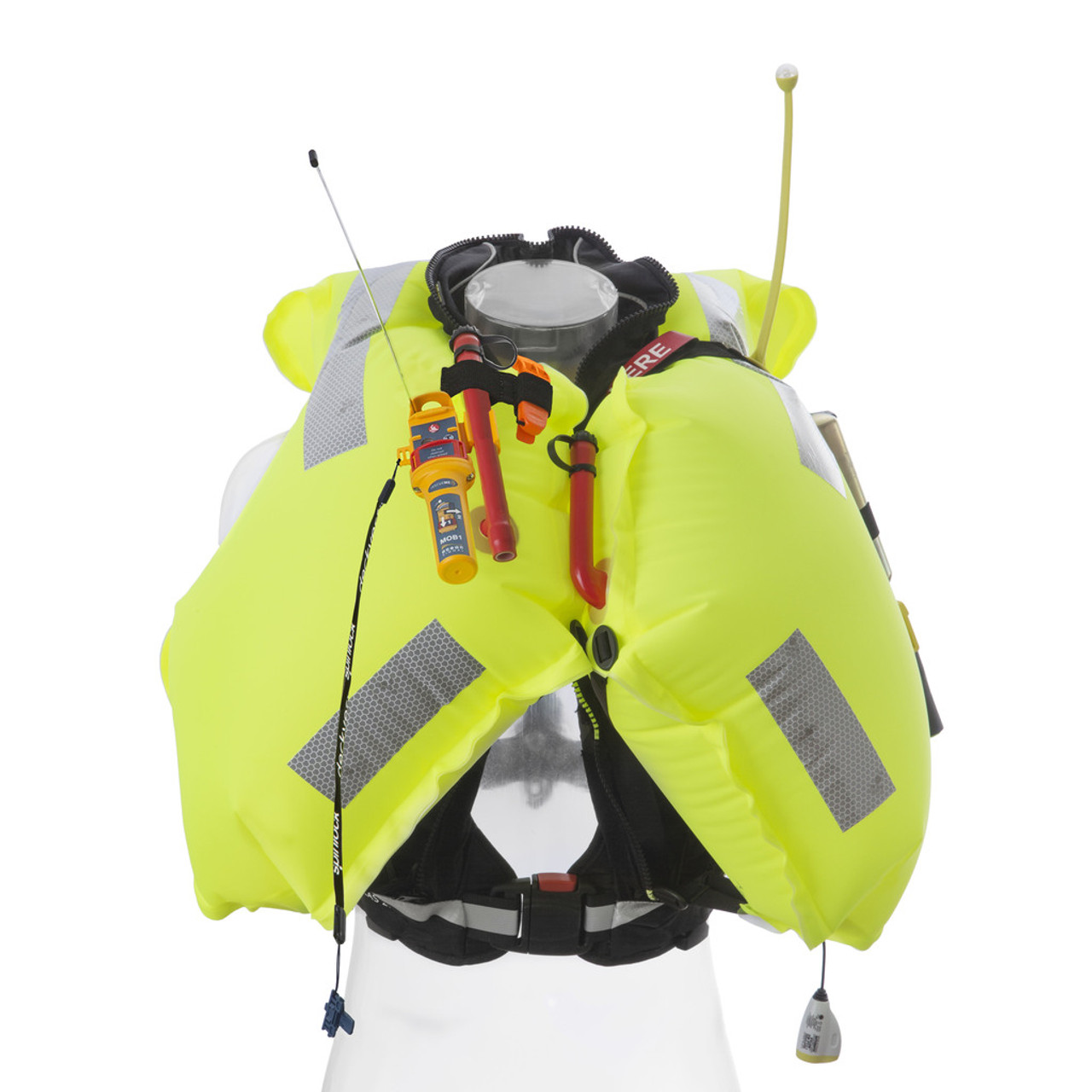 Spinlock SOLAS 275N Deckvest Lifejacket - Inflated with AIS MOB1 fitted
