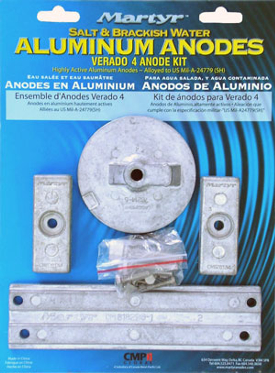Mercury Optimax Zinc Anode Kit Mercury Outboard Zinc Anode Kit Military Grade