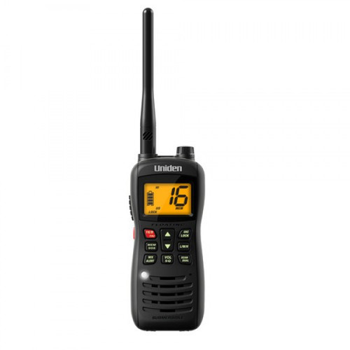 Uniden MHS127 Submersible / Waterproof* 5W VHF Marine Radio that Floats (MHS127)