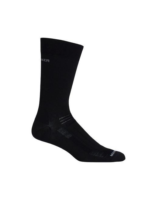 Icebreaker Hike Liner Crew Socks - Black