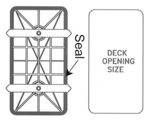 RWB Deck Plate Waterproof 285 x 530mm (RWB5209)