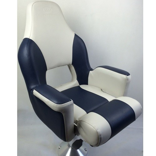 RWB Deluxe Flip-Up Helmsman Seat - Blue & Light Grey (RWB5028)
