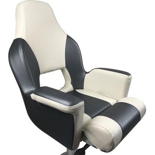 RWB ESM Deluxe Flip-Up Helmsman Seat - Dark Grey & White (RWB5029)