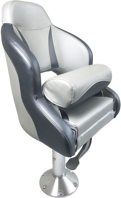 RWB ESM Admiral Flip-Up Helmsman Seat - Dark Grey & Light Grey (RWB5032)