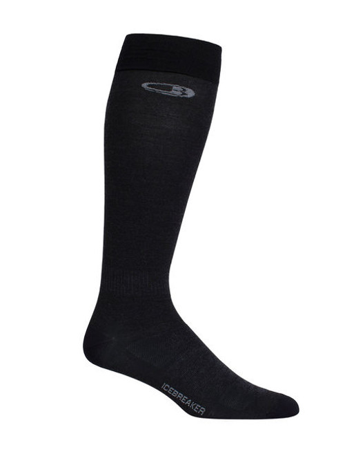 Icebreaker Snow Liner Over the Calf Socks - Black