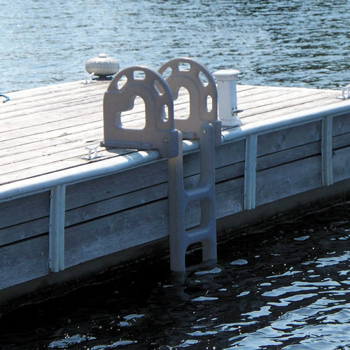 Dock Edge Dock Ladder, 4 Step, Polyethylene Flip Up (DE2064F)