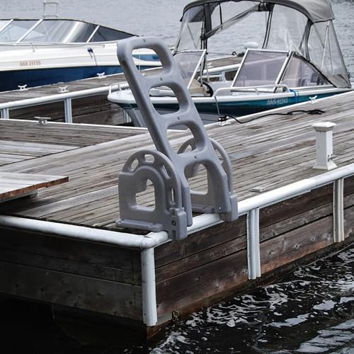 Dock Edge Dock Ladder, 4 Step, Polyethylene Flip Up, Stand Off (DE2084F)