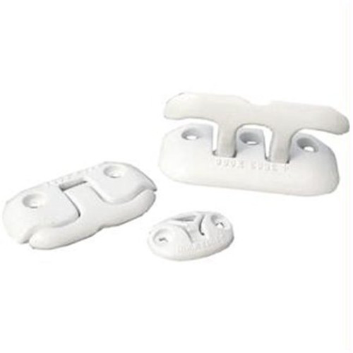 Dock Edge Dock Cleat, Flip Up Ring, White, Almag 35