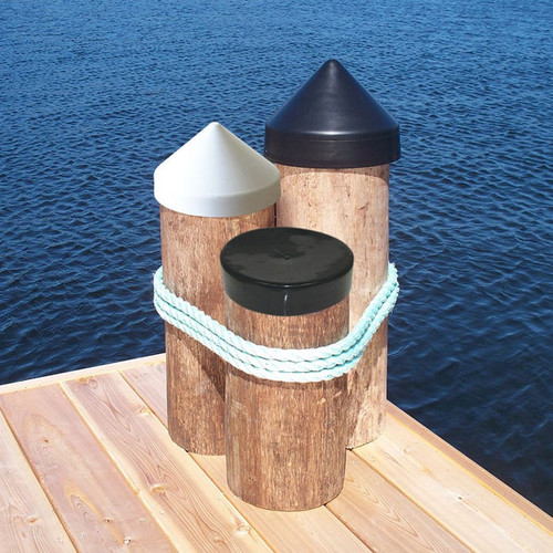 Dock Edge Piling Caps - Cone Head