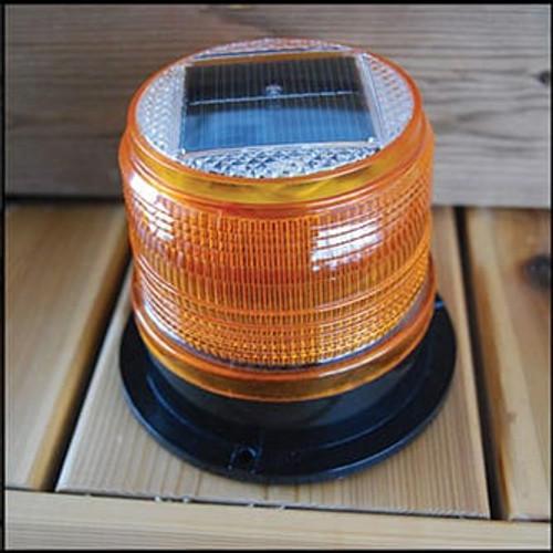 Dock Edge Solar Marker Light - Amber (DE96503F)