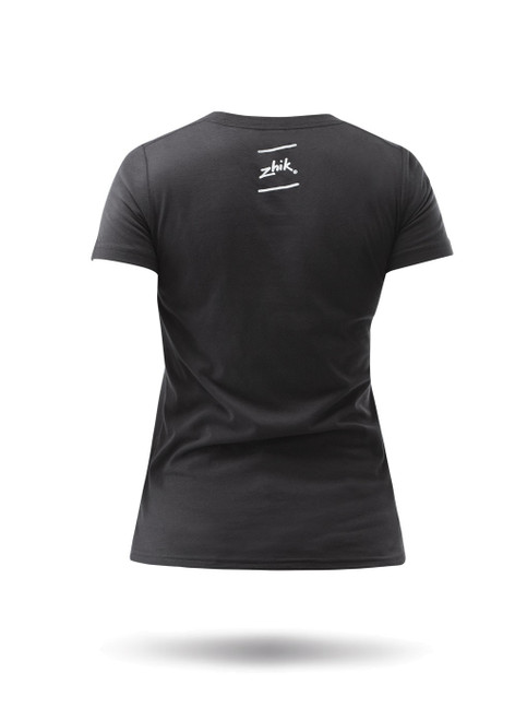 Zhik Classic Logo Poly-Cotton Tee - Charcoal back