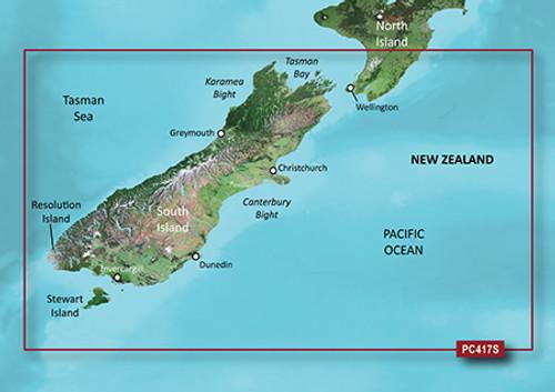 Garmin BlueChart g2 Micro SD with SD Card Adaptor HPC417S New Zealand South