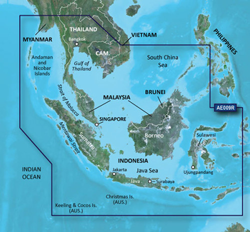 Garmin BlueChart g2 Micro SD with SD Card Adaptor HAE009R Singapore-Malaysia-Indonesia